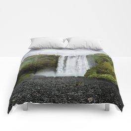Skogafoss Waterfall Iceland Comforters