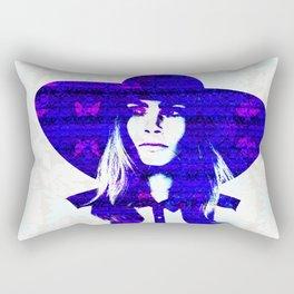 Cara Delevigne: Wide Brimmed Hat Rectangular Pillow