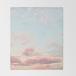 Cotton Candy Sky Throw Blanket
