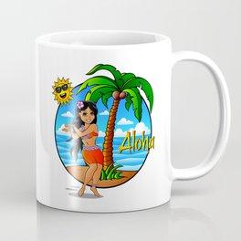 Hawaiian Girl Aloha Coffee Mug