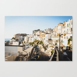 Afternoon in a white city Canvas Print