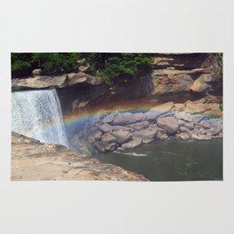 Rainbow at Falls Rug