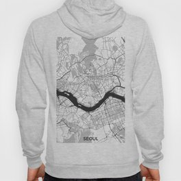 Seoul Map Gray Hoody