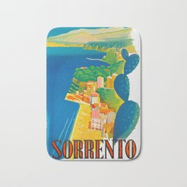 Sorrento Italy ~ Vintage Travel Poster Bath Mat