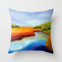River Marsh Throw Pillow