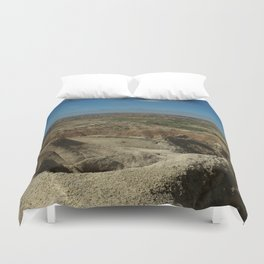 Amazing Badlands Overview Duvet Cover