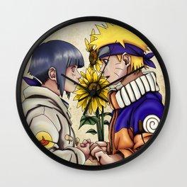 Naruto and Hinata Wall Clock