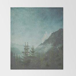 Misty Wilderness - Italian Alps Throw Blanket