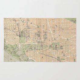 Vintage Map of Washington DC (1892) Rug