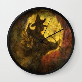 Witch on Moon Wall Clock