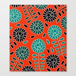 Floral contrast Canvas Print