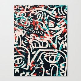 Street Art Pattern Graffiti Post Canvas Print