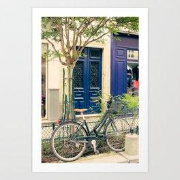 Bicycle in the Marais, Paris Art Print