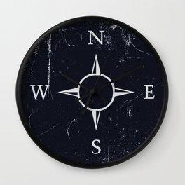 Dark compass Wall Clock