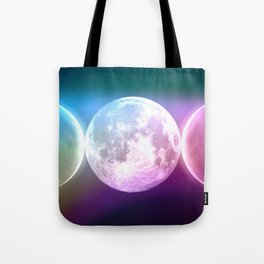 Moon Triple Goddess Rainbow Tote Bag