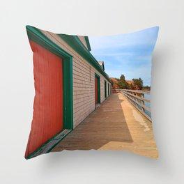 Basin Head Beach Boardwalk Throw Pillow