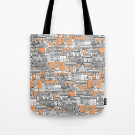 Paris toile cantaloupe Tote Bag