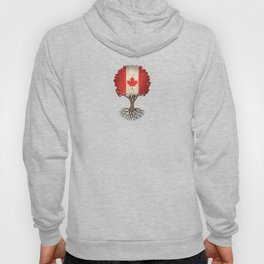 Vintage Tree of Life with Flag of Canada Hoody