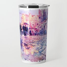 Dublin Watercolor Streetscape Travel Mug