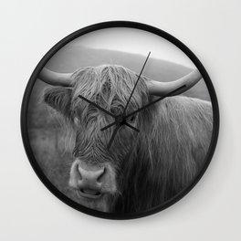 Highland cow I Wall Clock