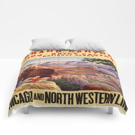 Vintage poster - Grand Canyon Comforters