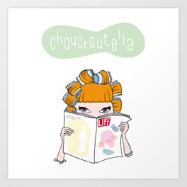 Choucroutella at the hairdresser's Art Print