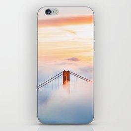 Golden Gate Bridge at Sunrise from Hawk Hill - San Francisco, California iPhone Skin