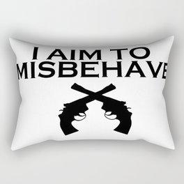 Aim to Misbehave Rectangular Pillow