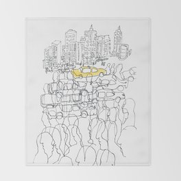 NYC yellow cab Throw Blanket