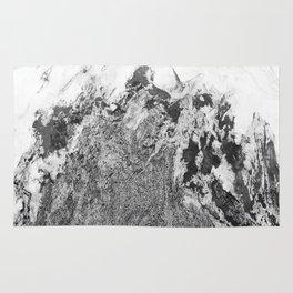 Marble Mountain Black and White I Rug
