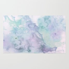 Pastel modern purple lavender hand painted watercolor wash Rug