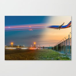 Time Traveling Machine Canvas Print