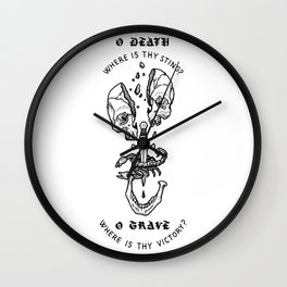 o death, where is thy sting? Wall Clock
