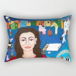 "Violeta Parra and the song ""Black wedding II"" Rectangular Pillow"