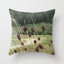 French Meadow Nature Throw Pillow