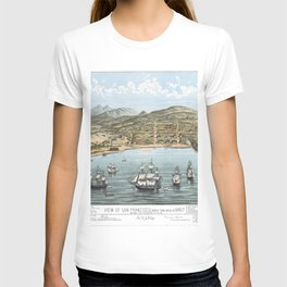 SAN FRANCISCO CALIFORNIA city old map Father Day art print poster T-shirt