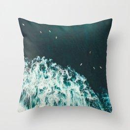 WAVES - OCEAN - SEA - WATER - COAST - PHOTOGRAPHY Throw Pillow