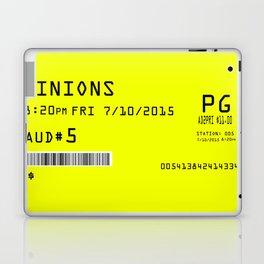 Minion Movie Ticket Laptop & iPad Skin