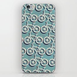 Cycling through Amsterdam iPhone Skin
