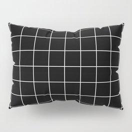 Grid Simple Line Black Minimalistic Pillow Sham