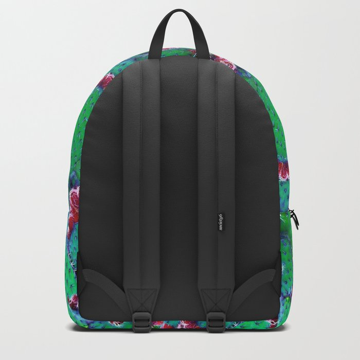 Flowering cacti Backpack