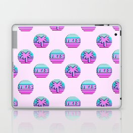 """Vaporwave pattern with palms and words """"yikes"""" #2 Laptop & iPad Skin"""