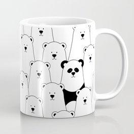 Polar bear and panda cartoon Coffee Mug
