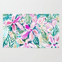 PLUMERIA PARADISE Tropical Floral Rug