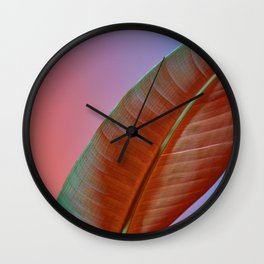 Neon Plant Wall Clock