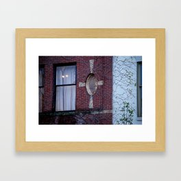 Looking Up in Downtown Traverse City MI Framed Art Print