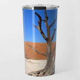 Skeleton tree in Namibia Travel Mug