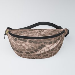 coral coloured stone tile Fanny Pack