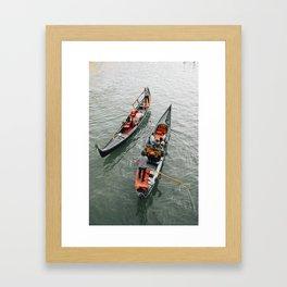 Venetian Gondola Ride Framed Art Print