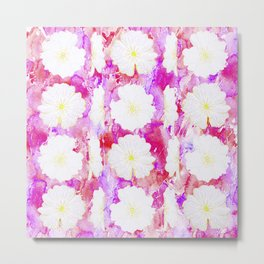 Flowerheads in pinks and fuschia Metal Print
